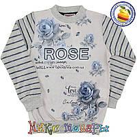 Кофта с Розами и микро начёсом для девочек от 10 до 15 лет (4845-2)