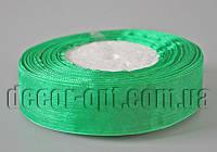 Лента органза зеленая 2,5 см 50ярд