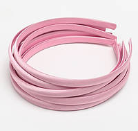 Основа для ободка (ободок) пластиковый атласный Светло-розовый 1 см 5 шт/уп