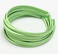 Основа для ободка (ободок) пластиковый атласный Салатовый 1 см 5 шт/уп