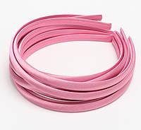 Основа для ободка (ободок) пластиковый атласный Розовый 1 см 5 шт/уп