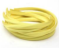 Основа для ободка (ободок) пластиковый атласный Желтый 1 см 6 шт/уп