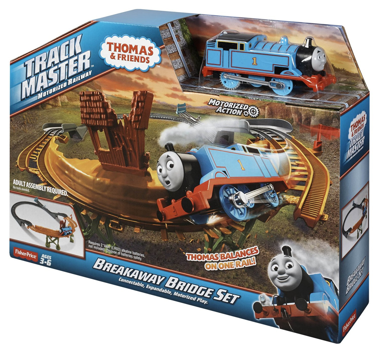 Железная дорога Томас и друзья  серия TrackMaster Thomas The Train  Breakaway Bridge Set