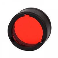 Диффузор фильтр для фонарей Nitecore NFR23 (22-23mm), красный