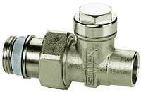 """Тип L – вентиль с функцией перекрытия и предварительной настройки с подключением к трубопрводу «под пайку», прямой 1/2""""х15 мм"""