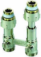 """Телескопические узлы подключения для двухтрубных систем для радиаторов типа ET1/50 угловой, 1/2""""BPx3/4""""HP"""