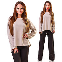 """Асимметричный женский свитер ангора """"Matt"""" с длинным рукавом (3 цвета)"""