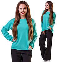"""Асимметричный женский свитер ангора """"Matt"""" с длинным рукавом (большие размеры)"""