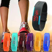 Спортивные силиконовые водонепроницаемые наручные LED часы - браслет 2 в 1, Унисекс