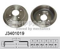 Барабан тормозной задний ASHIKA 5601108; JAPAN CARS C61017, C61017JC; NISSAN 4320697J10 на Ниссан Примера