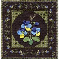 Набор для вышивки лентами Panna Ц-0849 Трехцветная фиалка
