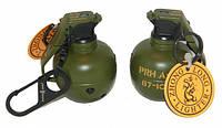 Зажигалка брелок граната маленькая с карабином 005