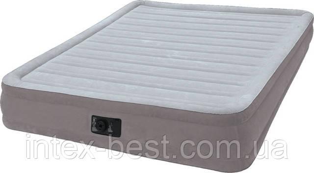 Intex 67768 надувная кровать Comfort Plush Mid Rise Airbed 191x137x33см