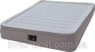 Intex 67768 надувная кровать Comfort Plush Mid Rise Airbed 191x137x33см, фото 2