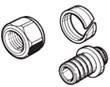 """З'єднання різьбове для підключення труб RAUTITAN flex/his/pink 16 до колекторів та запірної арматури 3/4"""""""