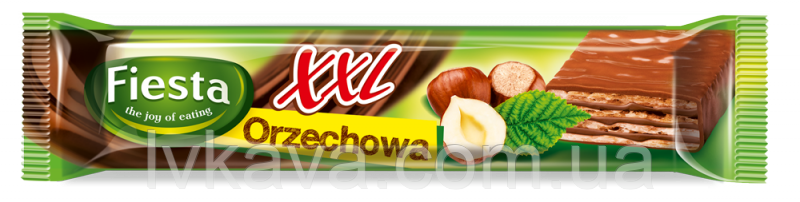 Шоколадные  вафли Fiesta XXL orzechowa, 50 гр