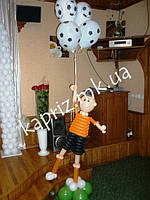 Тематическое оформление шарами Дня Рождения юного футболиста, фото 1