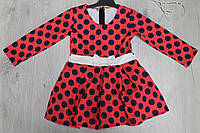 Платье в горошек для девочки  размеры 1,2,3,4 года
