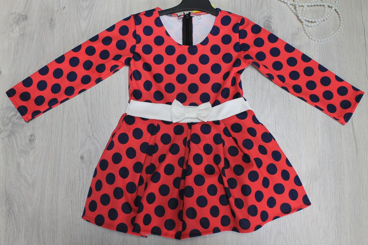 Платье в горошек для девочки  размеры 1,2,3,4 года - Style-Baby детский магазин в Киеве
