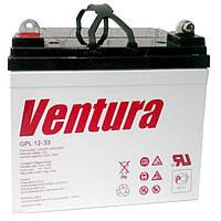 Герметизированный необслуживаемый свинцово-кислотный аккумулятор Ventura GPL 12-33 (технология AGM)