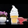 Чехол 3D Moschino мороженое для iPhone 6/6S plus белый