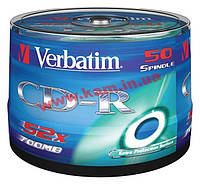 Диск VERBATIM CD-R 700Mb 52x Cake 50 Extra 43351 (43351)