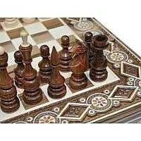 Деревянные Шахматы + Нарды, 60х60 см.