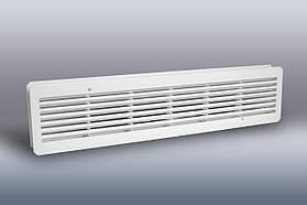 Решетка вентиляционная дверная, габаритные размеры 450х100 мм, посадочное место 425х90 мм, полистирол, в ассор