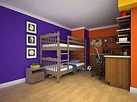Двухъярусная деревянная кровать Трансформер 2 ТИС