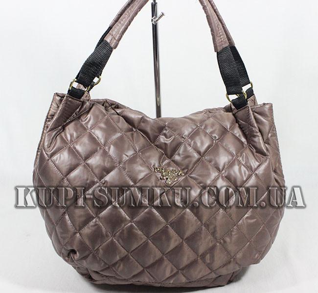 dff2286a0cdf Молодежная темно-коричневая сумка PRADA - Интернет-магазин