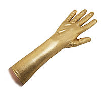 Перчатки атласные длинные (золото)  TVV-4492