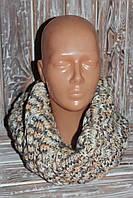 Вязаный женский зимний шарф снуд (труба) хомут, ручная работа