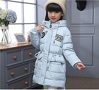 Зимняя куртка для девочки на пуху. 130р., фото 1