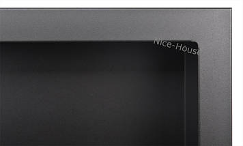 Биокамин Nice-House S-Line 120x46 см, черный, фото 2