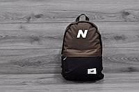 Городской рюкзак New Balance коричневый с черным! Топовое качество!