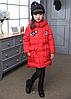 Зимова куртка для дівчинки на пуху.140,150 р., фото 2