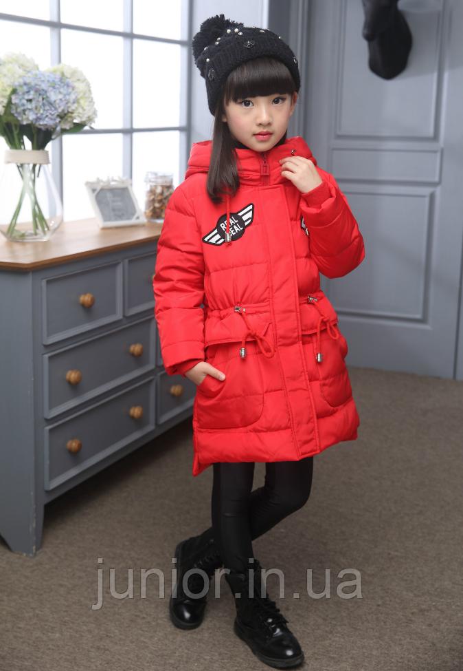Зимова куртка для дівчинки на пуху.140,150 р.