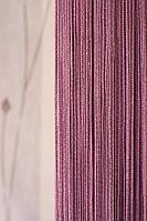 Нитяные шторы с люрексом (фиолетовый с серебярным люрексом), фото 1
