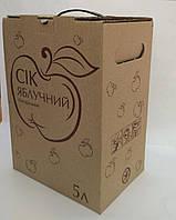 """Коробка 5 л """"Сік яблучний""""  1цвет"""