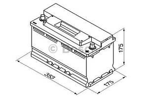 "Аккумулятор BOSCH S3 Silver 88Ah , EN740 , правый ""+"" , ( Bosch 0 092 S30 120 ) 353*175*175 (Д*Ш*В)"