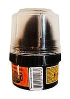 Крем-краска для обуви и гладкой кожи Blyskavka Темно-коричневый (банка с губкой) - 60 мл.