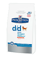 Hill's PD Canine D/D Salmon & Rice для собак с лососем и рисом 12 кг
