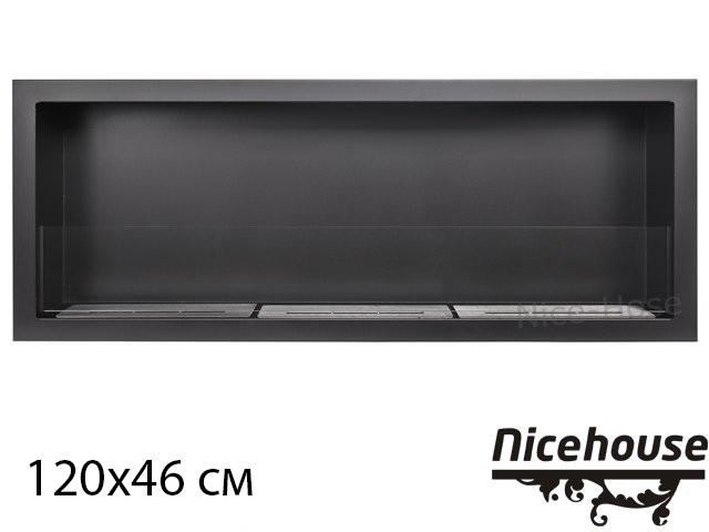Биокамин Nice-House S-Line 120x46 см, с защитным стеклом