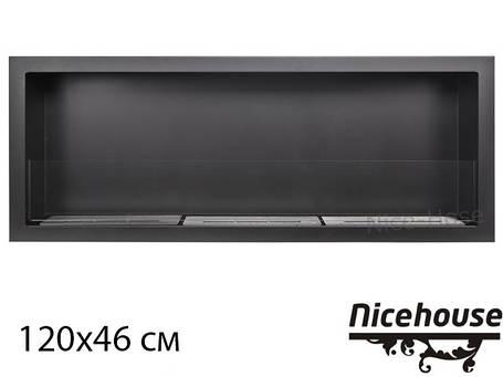 Биокамин Nice-House S-Line 120x46 см, с защитным стеклом, фото 2