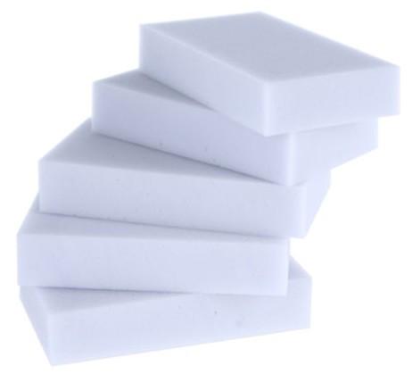 Меламиновая губка мочалка белая 10*6*2см #100119