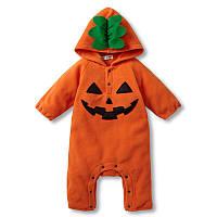 Флисовый детский комбинезон Хэллоуин, человечек тёплый, р. 9-12 мес.