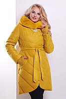 Женская зимняя куртка желтого цвета GLEM Куртка 80