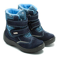 Зимние сапожки Kapika, синие, для девочки, непромокаемые, размер 29-34