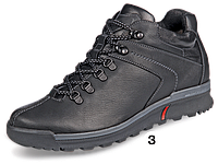 Зимние мужские кожаные комфортные черные спортивные ботинки, зимние кроссовки Mida