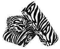 Плед с рисунком зебры, бело-черный, двухспальный